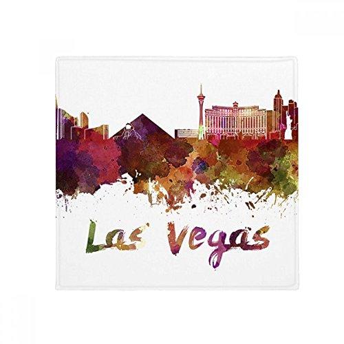 DIYthinker Las Vegas Amerika Stadt Aquarell Anti-Rutsch-Boden Haustier-Matten-Platz Badezimmer Wohnzimmer Küche Tür 60 / 50cm Geschenk 50X50Cm Mehrfarbig