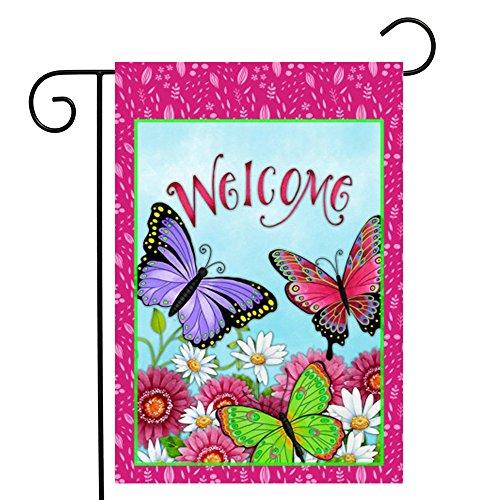 ge, Home Dekorative Vertikal Doppelseitig Butterfly Garden Flagge Indoor & Outdoor Hängende Dekoration 31,8x 45,7cm ()