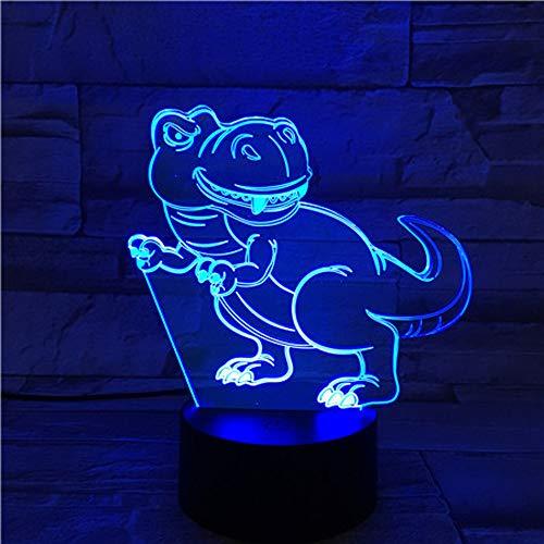 Pterosaur Dinosaurier 3D Phantom LED Licht 7 Farbe LED Birne Licht Dekoration Nachtlicht USB Touch Schlaf Tischlampe Kind Junge Baby Geschenk ## 1