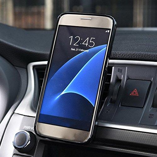 Kroo Support pour téléphone portable pour grille d'aération Berceau Magnétique support de voiture pour Smartphones de Samsung Galaxy S7Étui rouge - Rouge/noir rouge - Rouge/noir