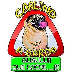Pegatina Carlino a bordo perro