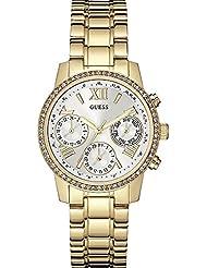 Guess Damen Armbanduhren Analog Quarz Edelstahl gold W0623L3