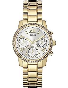 Guess Damen-Armbanduhr Ladies Sport Analog Quarz Edelstahl W0623L3