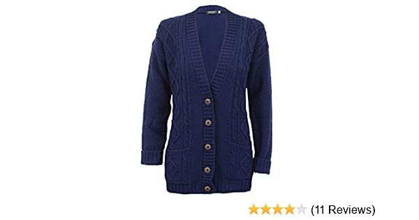 c0ffee297b Ladies  Knitted Cardigan L5BUTH4 Navy X Large  Amazon.co.uk  Clothing