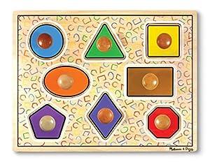 Melissa & Doug - Formas geométricas, Rompecabezas con Clavijas Grandes - (13390)