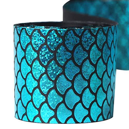 ipsband Geschenkpapier Bänder DIY für Handwerk Verpackung Haarschleife Bänder Hochzeit Geburtstag Party Dekorationen (Blau) ()