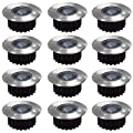 HIGH QUALITY 12 x STAINLESS STEEL BRIGHT LED SOLAR POWER WIRELESS GARDEN DECKING DECK LIGHTS from OnlineDiscountStore