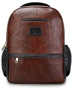 The Clownfish Signature Series 25 litres Laptop Bag / Travel Backpack / School Bag (Dark Brown)