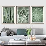 Plante Verte Mur Art Décoration Peinture sur Toile Nordique Cactus Affiches Et Gravures Mur Photos pour Salon sans Cadre