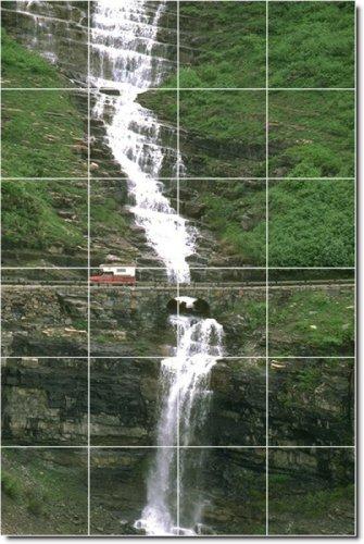 FOTOS DE CASCADAS DUCHA MURAL DE AZULEJOS 6  24X 36PULGADAS CON (24) 6X 6AZULEJOS DE CERAMICA