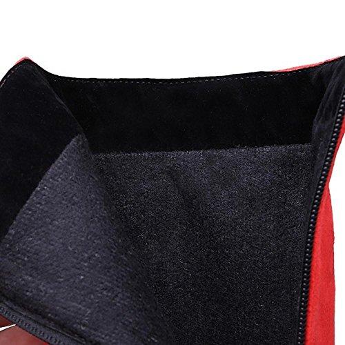 Rosso Stivali Cerniera Moda Donne Coolcept Fulmine XPRHw1B