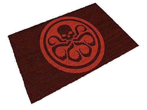Felpudos Cómics Logo Hydra, Fibra de Coco, Negro, Decoración del Hog