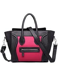 Bolso de las señoras, bolso de la sonrisa, el bolso, bolso de hombro, bolso, negro y rosa bolsas