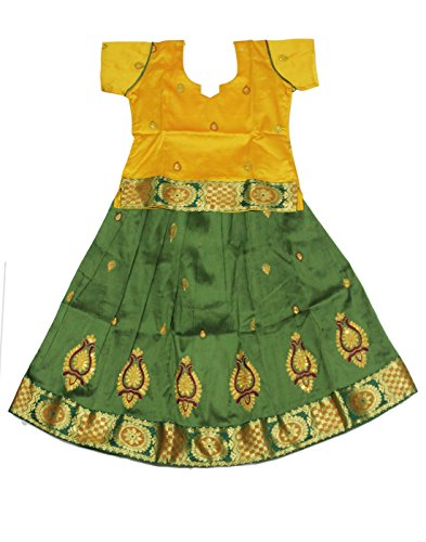 Kanakadara Self Design Girl's Lehenga Choli( Size : 3-4 Years )