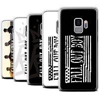 Offiziell Fall Out Boy Hülle / Gel TPU Case für Samsung Galaxy S9/G960 / Pack 5pcs Muster / FOB Band Logo Kollektion