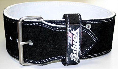 Schiek Sports L601110cm breit Wildleder Leder Single Zinken Wettbewerb Power Lifting Gürtel-9mm Dicke