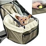 Trasportino da auto per sedile, cesto porta seggiolino cane gatto animali domestici con cinghie di sicurezza e morbida trapuntina interna