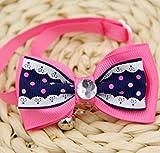 Happy-little-bear Dot Cat Halsband Breakaway Bowtie Cat Halsband Halskette mit Bell Safety Elastic Stretch Halsband für Katzen