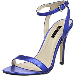 Quiz Damen Barely There Electric Heeled Sandals Peep-Toe Pumps, Blau (Königsblau), 39 EU