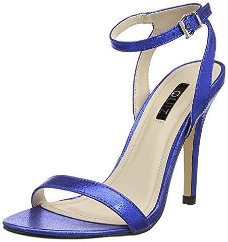Quiz Barely There Electric Heeled Sandals, Escarpins Bout ouvert femme - bleu - Bleu (bleu roi), 38