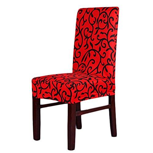 Pixnor Housse de chaise stretch lavable amovible Chaise de salle à manger Coque pour cérémonie Hôtel salle à manger chambre (Rouge)