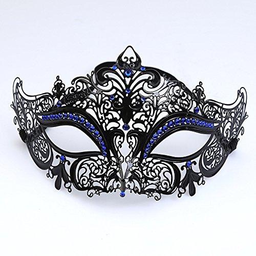 WITREE-Z Venedig Maske, die Hälfte gegenüber Metall eisernen -