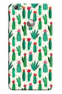 Blue Throat Cactus And Flower Pattern Printed Designer Back Cover For LeTv Le 1s
