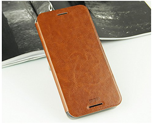 For HTC Desire 620G / 620 Dual Sim Luxury Leather Slim Flip Cover Case with Stand by MOFI - Brown