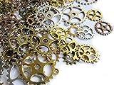 Unbekannt 20, 50 o. 100 Zahnräder 1,15-2,8cm Steampunk,Perlen basteln, Gothic (20)