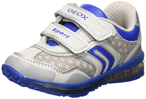 Geox B Todo Boy A, Chaussures de Football Mixte Bébé Jaune (Lt Grey/Royal)