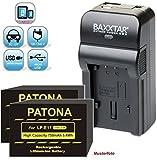 Baxxtar Razer 600 II Ladegerät 5in1 - (2X) Patona Akku 750mAh - Ersatz für Akku Canon LP-E17