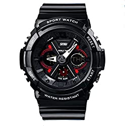 Skmei Analogue-Digital Black Dial Men's Sports Watch - zooper
