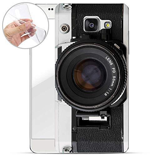 Hülle für Samsung Galaxy A5 2017 - Handyhülle mit Motiv und Optimalen Schutz TPU Silikon Tasche Case Cover Schutzhülle - Kamera FD Lens