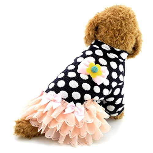 smalllee_lucky_store Kleid Small Dot Pet Winter Rock Kleiner Hund Kleidung, Large, ()