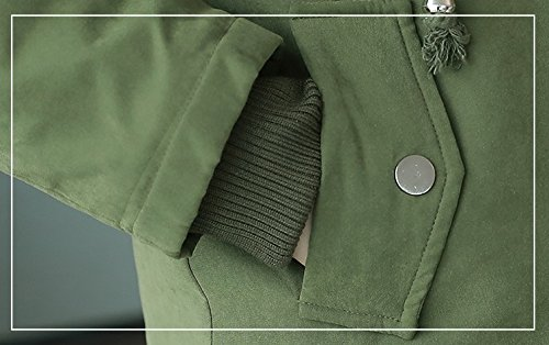 WTUS Manteau Avec Capuche Pour Femmes Plus épaississement Du Velours Vert
