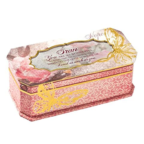 Cottage Garden Butterfly Collection Musical Jewellery Box