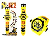 #8: Rvold 24 Images Projector Kid's Digital Toy Watch - Minions