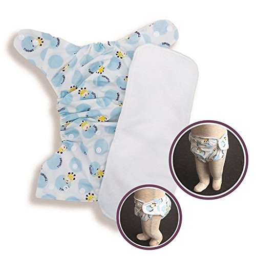 Carter'S Honey All In One Reusable Bottom Bumpers Washable Diaper cloth With Microfibre Insert White Base Print