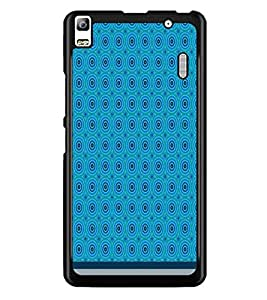 PrintDhaba Circular Pattern D-1518 Back Case Cover for LENOVO A7000 TURBO (Multi-Coloured)