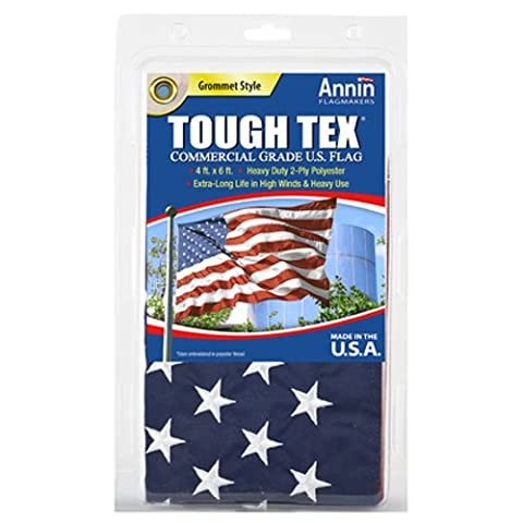 ANNIN FLAGMAKERS - Tough Tex U.S. Flag, 2-Ply Polyester, 4 x 6-Ft.