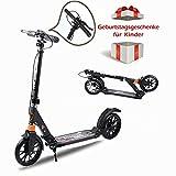 KinshopS Klappbar Cityroller Scooter Tretroller für Kinder ab 14 Jahre und Erwachsene mit Zwei Dämpfungssystemen