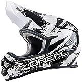 Casque Motocross Oneal 2016 3Series Shocker Noir-Blanc (Xs , Noir)