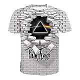 XXW Unisex T-Shirt Pink Floyd 3D Camicia Estiva Stampata Primavera A Maniche Corte per Uomo, Donna