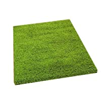 AHOC Shaggy Rug - Lime Green - Soft Textured Surface - W 200cm x L 290cm