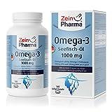 Olio di Pesce Omega-3 1000mg di ZeinPharma • 140 capsule Softgel (fornitura per 1 mese) • con EPA, DHA e Vitamina E • Fatto in Germania