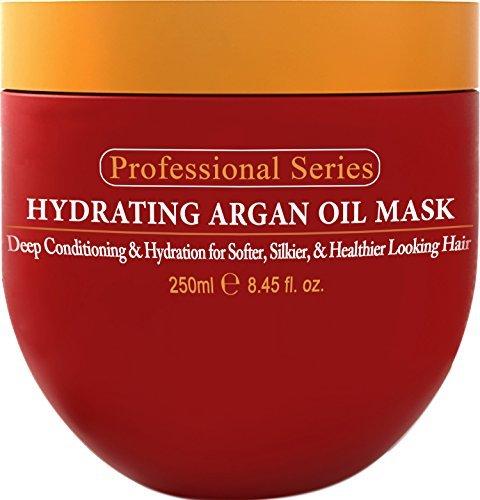 Arvazallia Hidratante mascarilla aceite argan y publicidad de acondicionador profundo para cabello dañado o química