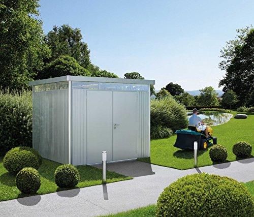 Biohort Highline H4 mit Doppeltüre weiß, 275x275cm, Geräteschrank, Gartenhaus, Gerätehaus von...