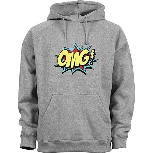 OMG Comics Style Kapuzenpullover Grau ()