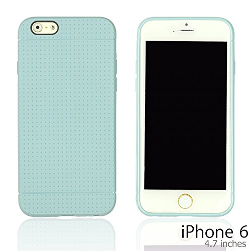 OnlineBestDigital - Colorful Hard Back Case / Housse pour Apple iPhone 6 (4.7 inch)Smartphone - Jaune avec 3 Film de Protection Bleu Clair