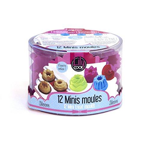 Lily Cook KP5052 Mini Amuse Bouche Silicone Multicolore 13 x 13 x 9 cm 12 Pièces